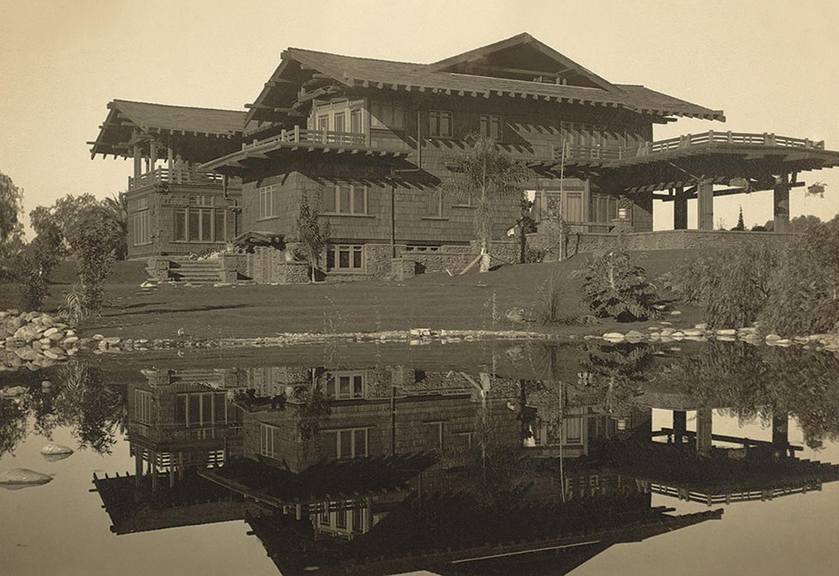 Blacker House, 1907, Pasadena; designed by Greene & Greene.