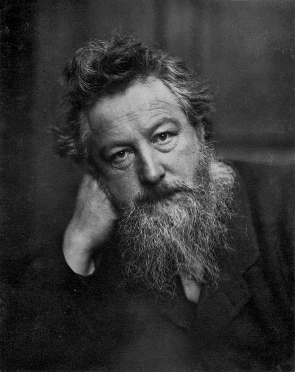 Portrait of British designer William Morris at age 53, in 1899.