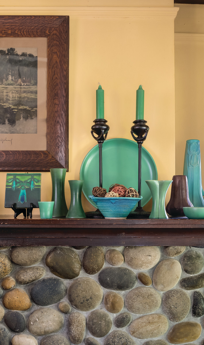 art pottery mantel
