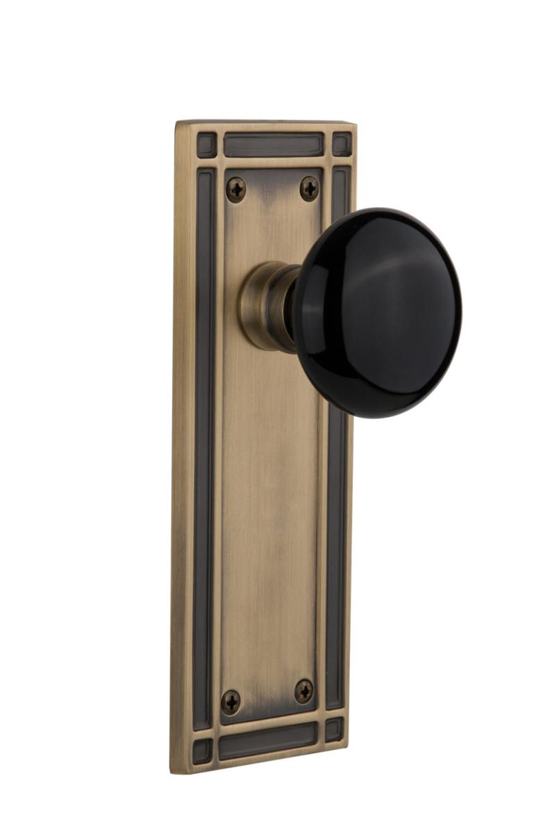 Mission door hardware by Nostalgic Warehouse.