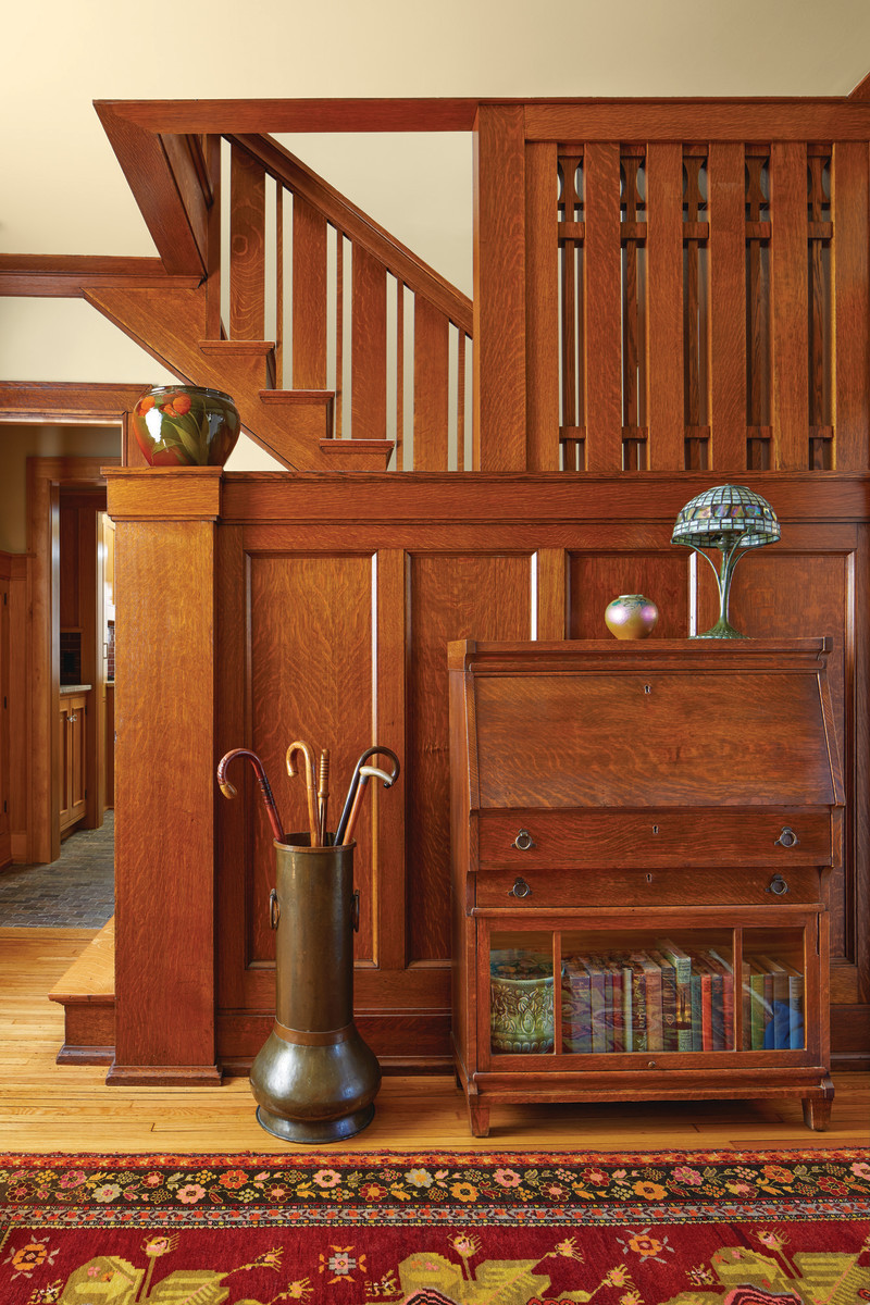 Rich woodwork and Prairie details are intact.
