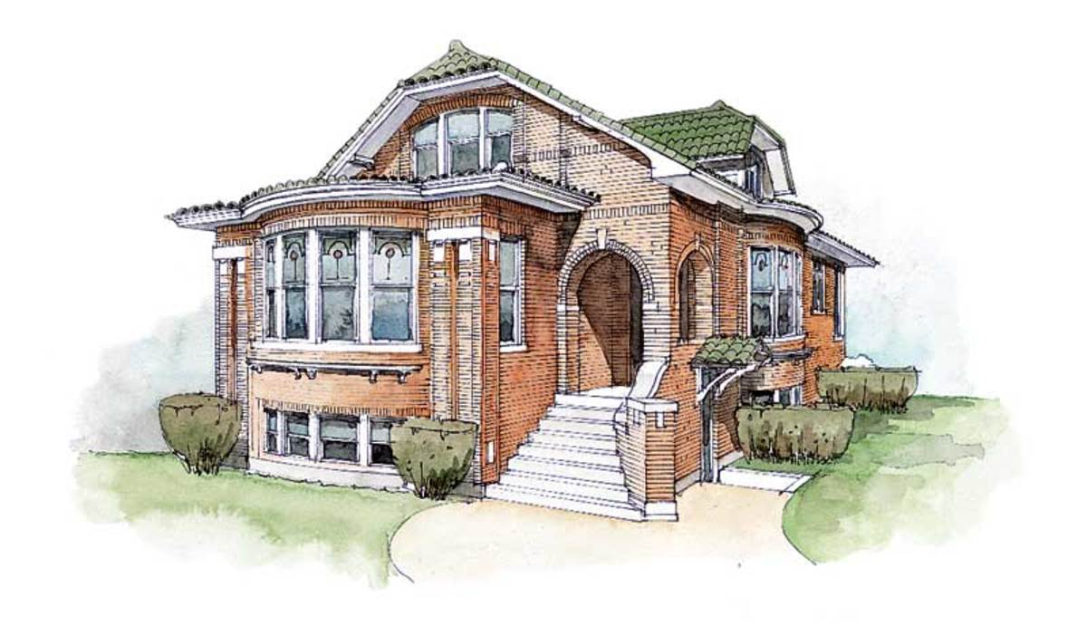 A typical Chicago bungalow in Ilinois.